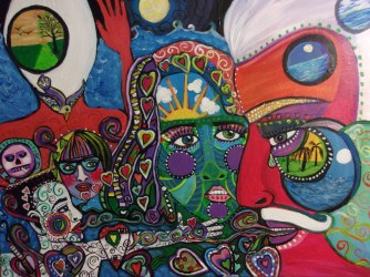 Legacy of Love and Lunacy, acrylic on canvas, Susan T.Martin