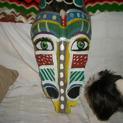 Beginning Stages of 'Antelope Dance Mask'