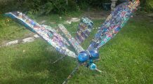 Intergalactic Dragonfly made of Trash