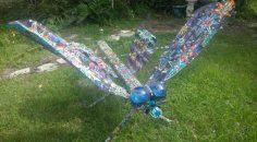 Intergalactic Dragonfly made of Trash