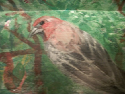 Detail of Finch, Acrylic on Board, Susan T. Martin 2012