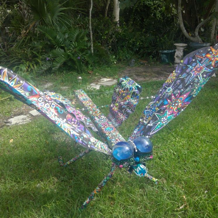 Intergallactic Dragonfly, mixed media sculpture,Susan T. Martin 2016, sold