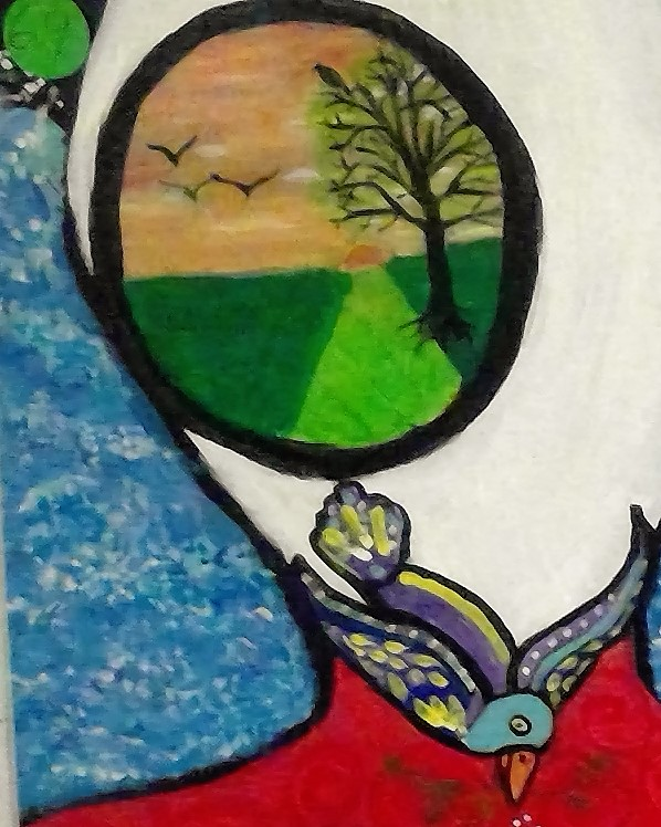Portals to Peace (detail of Legacy of Lunacy)Acrylic on Canvas