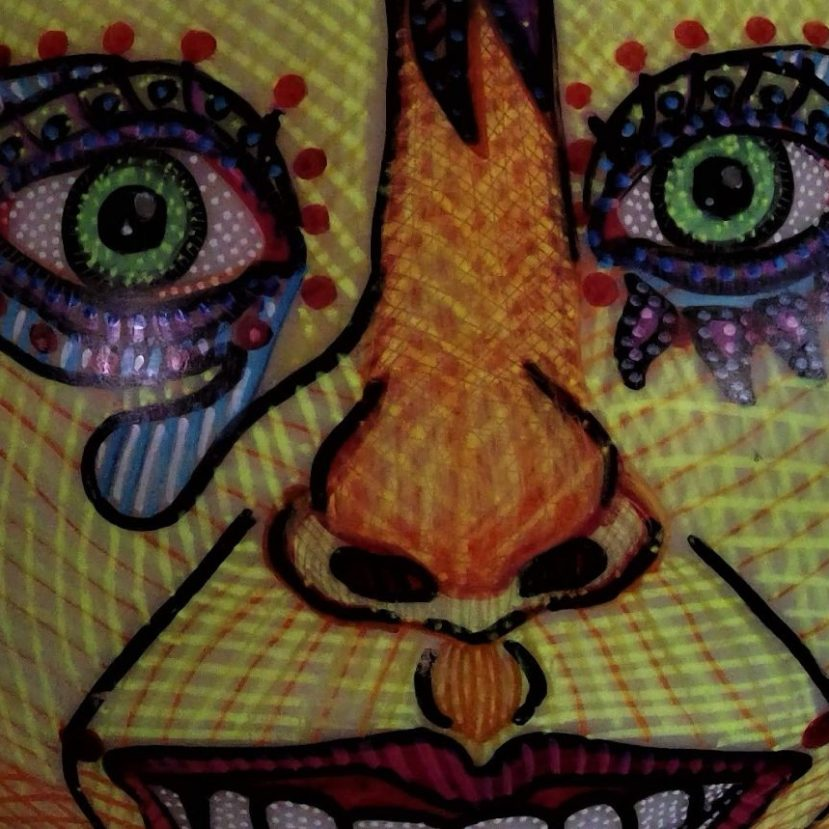 The Manic Side of Me:Bipolar Art Lamp ©STMartin2018