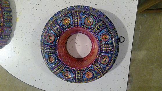 Painted Jello Mold, (SOLD)