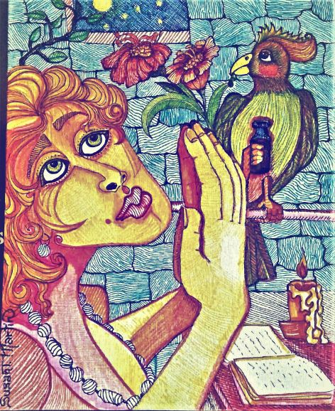Prayer for Magdallia, by Susan T. Martin 9 x 11 Marker on Board $50.00