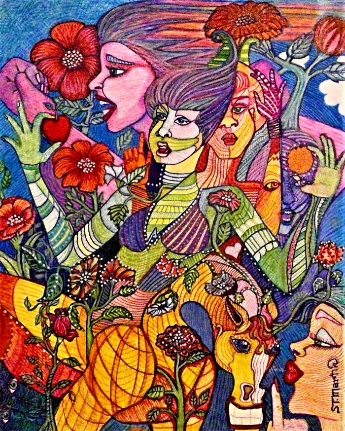 GROWTH, a Painting by Susan T. Martin